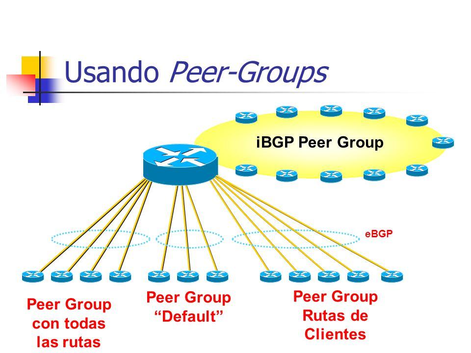 Peer Group con todas las rutas