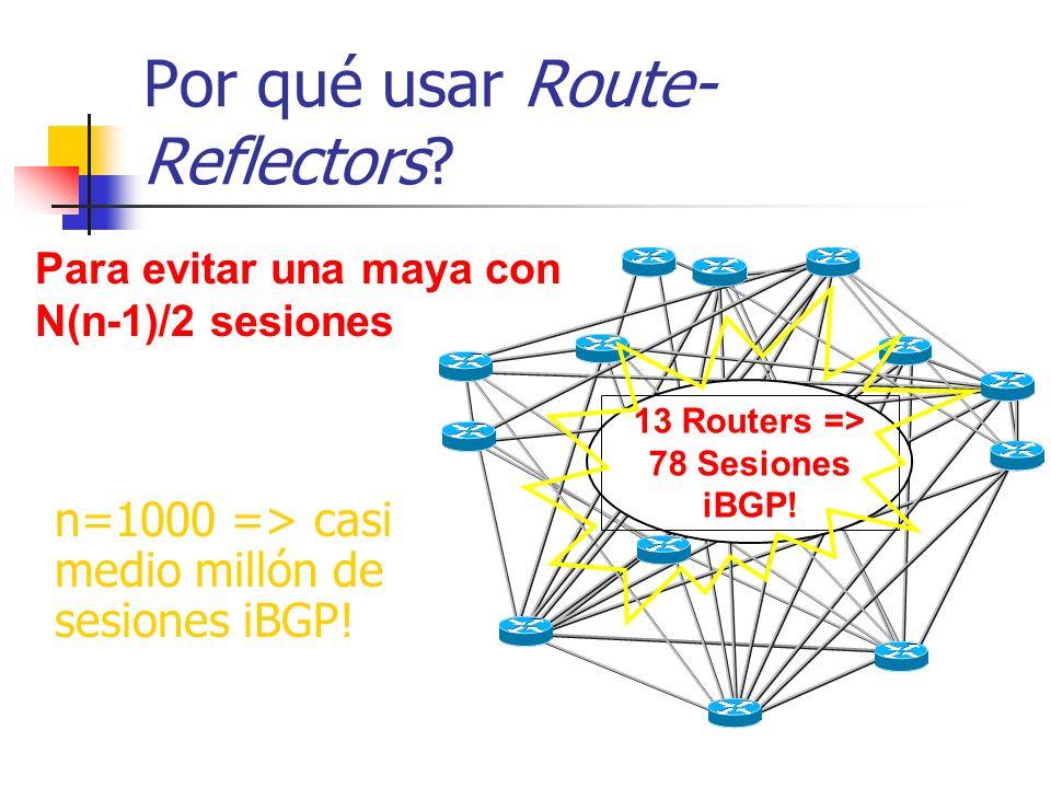 Por qué usar Route-Reflectors