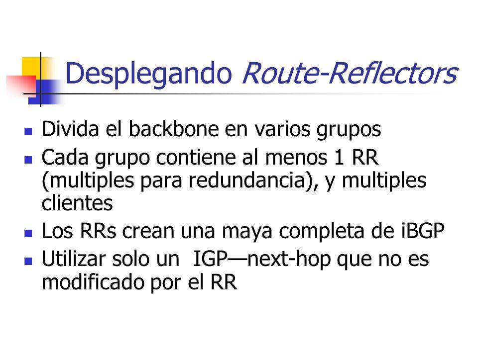Desplegando Route-Reflectors