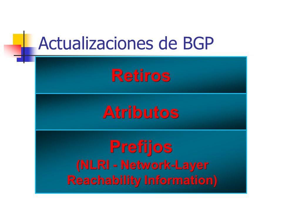 Actualizaciones de BGP