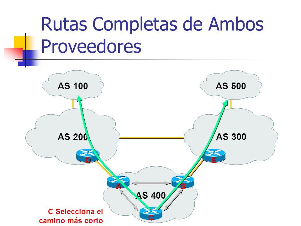 Rutas Completas de Ambos Proveedores