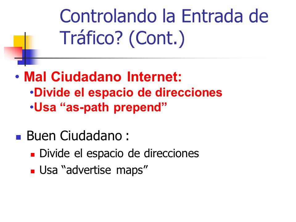 Controlando la Entrada de Tráfico (Cont.)