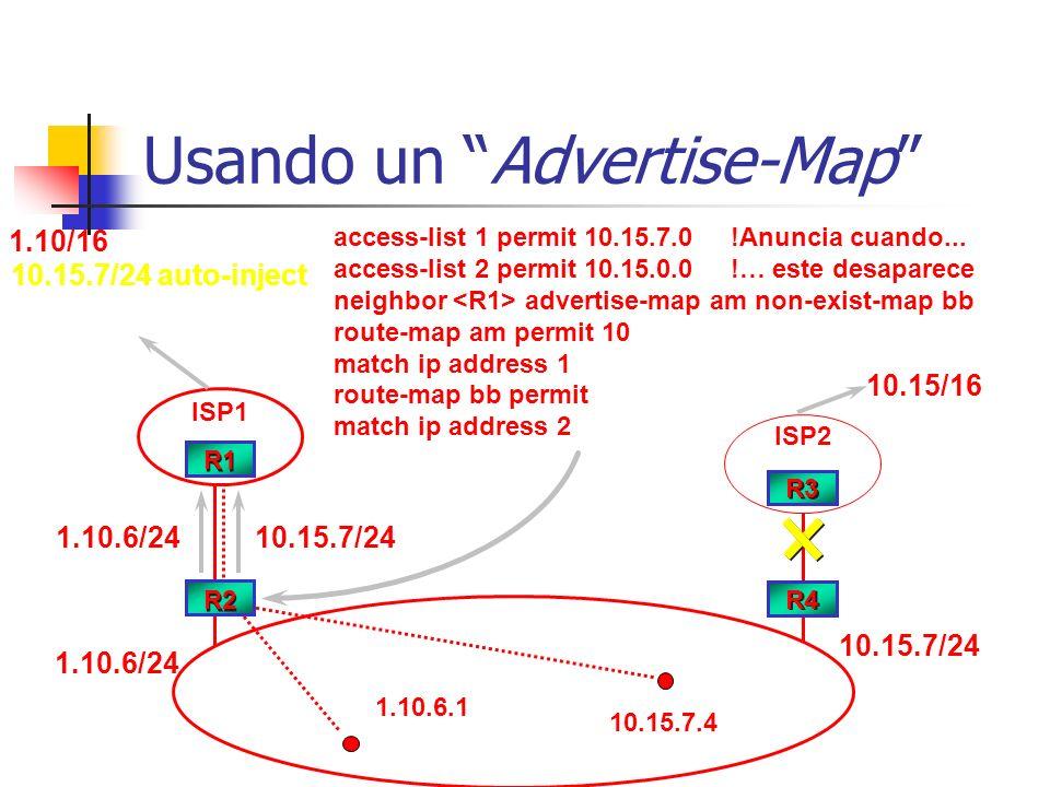Usando un Advertise-Map