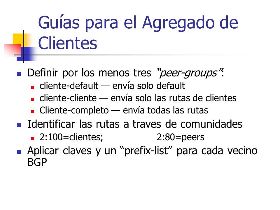 Guías para el Agregado de Clientes