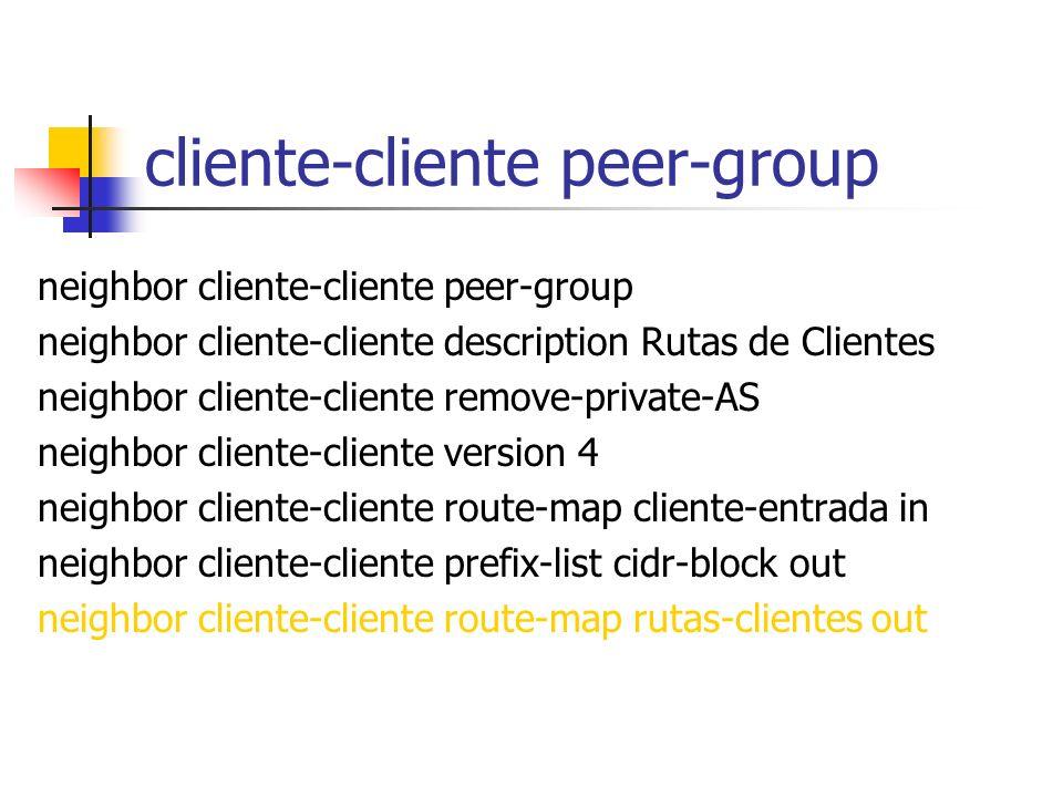 cliente-cliente peer-group
