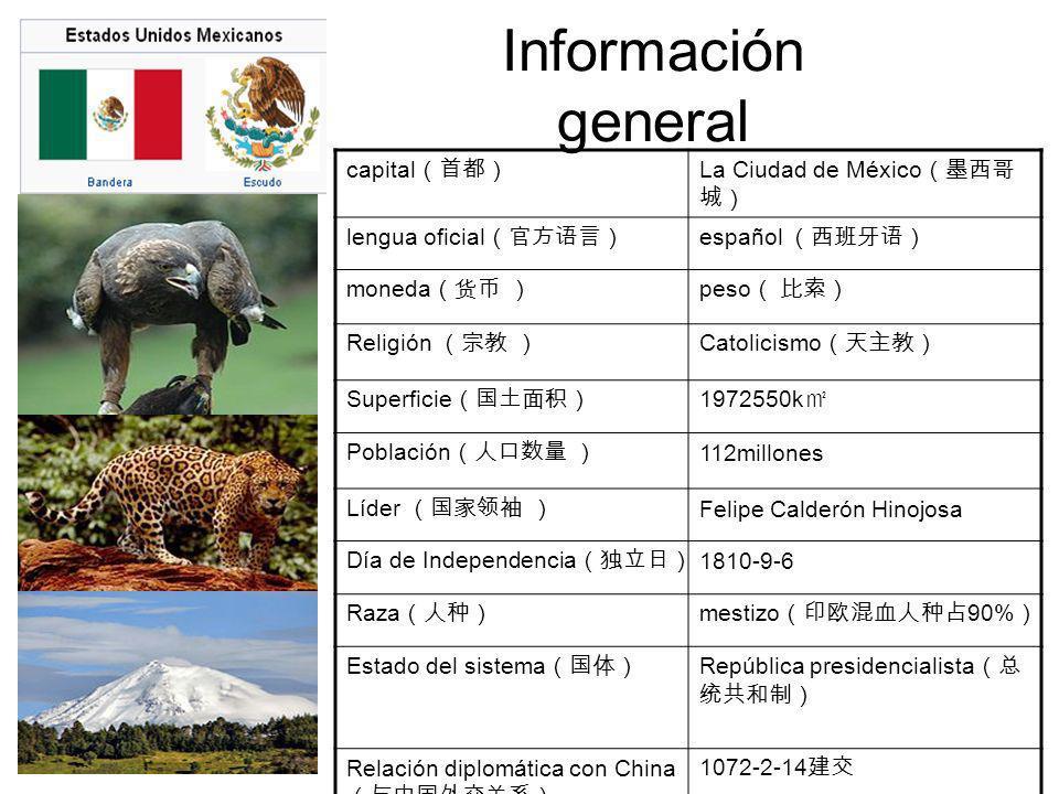 Información general capital(首都) La Ciudad de México(墨西哥城)