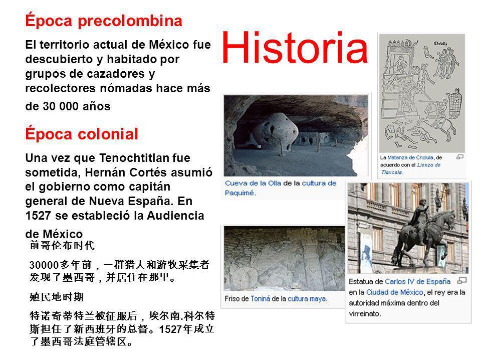 Historia Época precolombina Época colonial