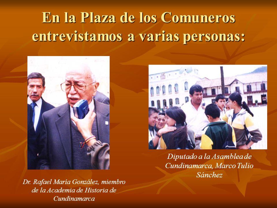 En la Plaza de los Comuneros entrevistamos a varias personas: