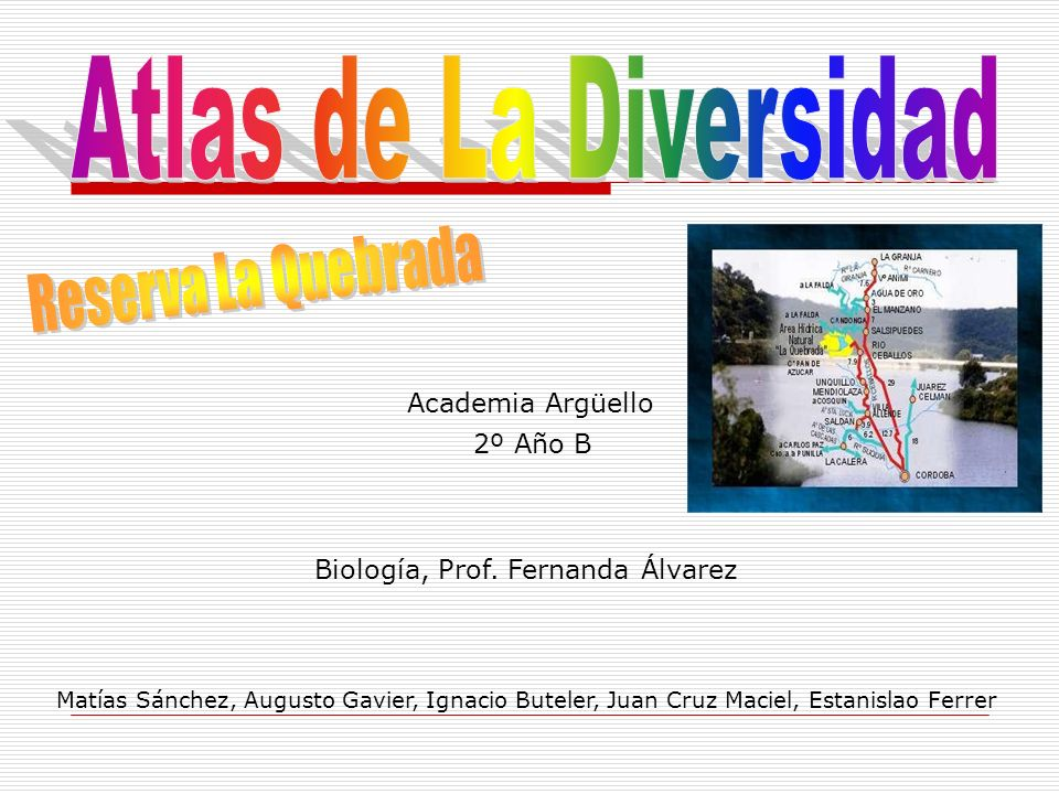 Atlas de La Diversidad Reserva La Quebrada Academia Argüello 2º Año B