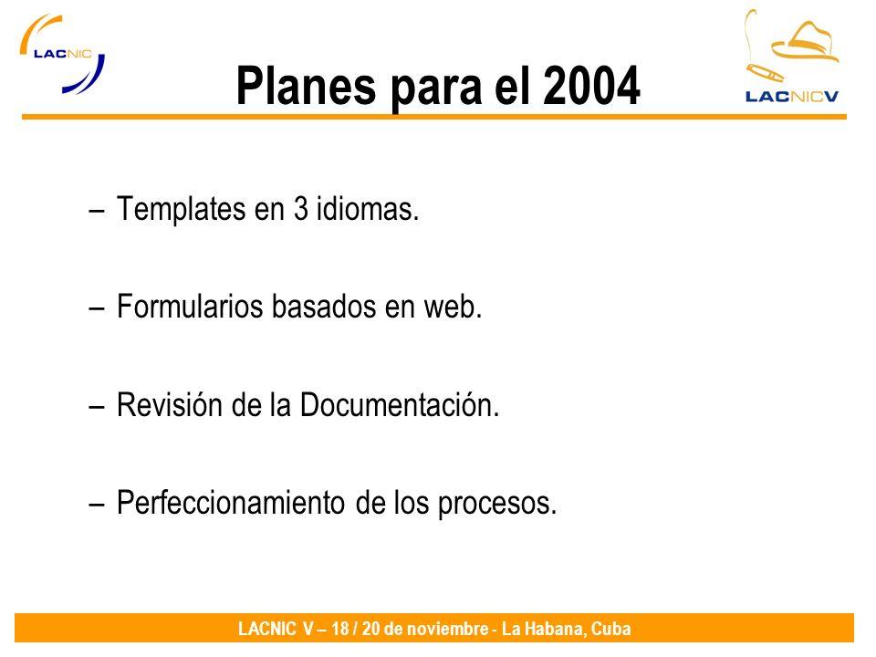Planes para el 2004 Templates en 3 idiomas.