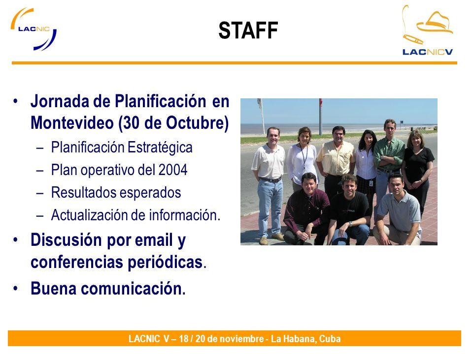 STAFF Jornada de Planificación en Montevideo (30 de Octubre)