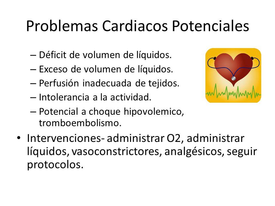 Problemas Cardiacos Potenciales