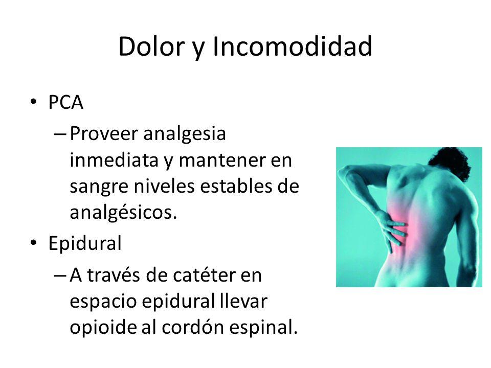 Dolor y Incomodidad PCA
