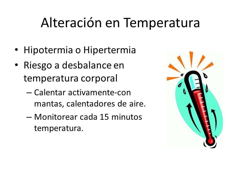 Alteración en Temperatura