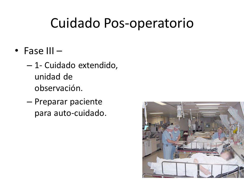 Cuidado Pos-operatorio
