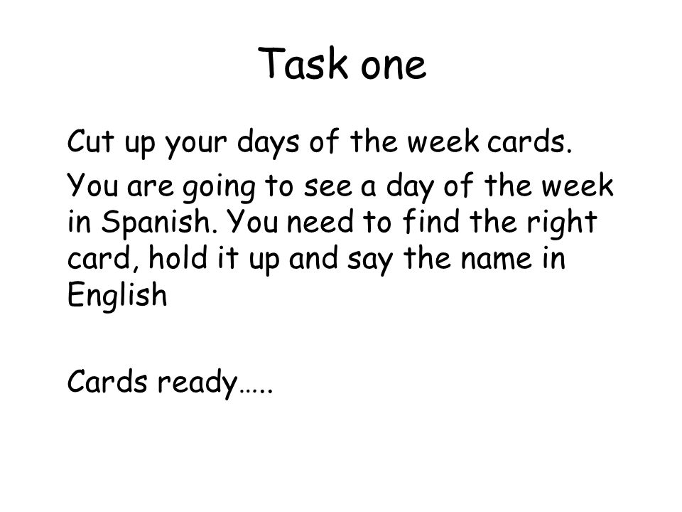 Task one