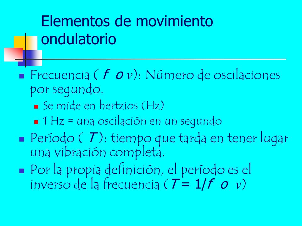 Elementos de movimiento ondulatorio