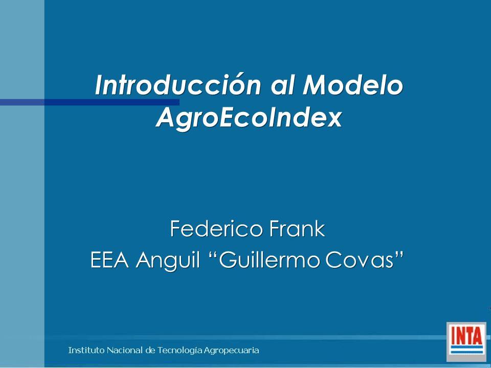 Introducción al Modelo AgroEcoIndex