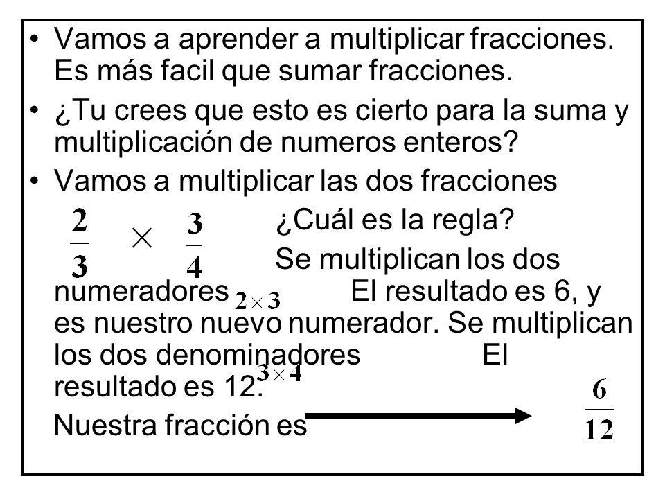 Vamos a aprender a multiplicar fracciones