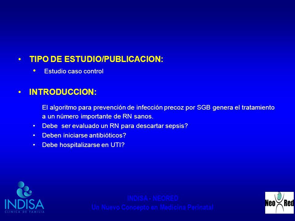 TIPO DE ESTUDIO/PUBLICACION: