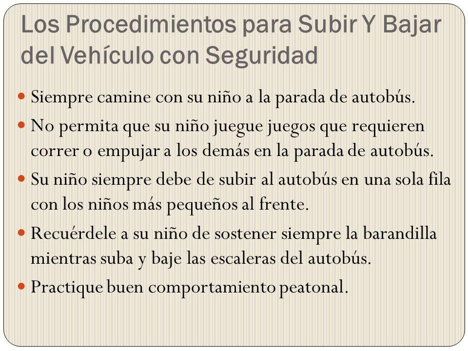 Los Procedimientos para Subir Y Bajar del Vehículo con Seguridad