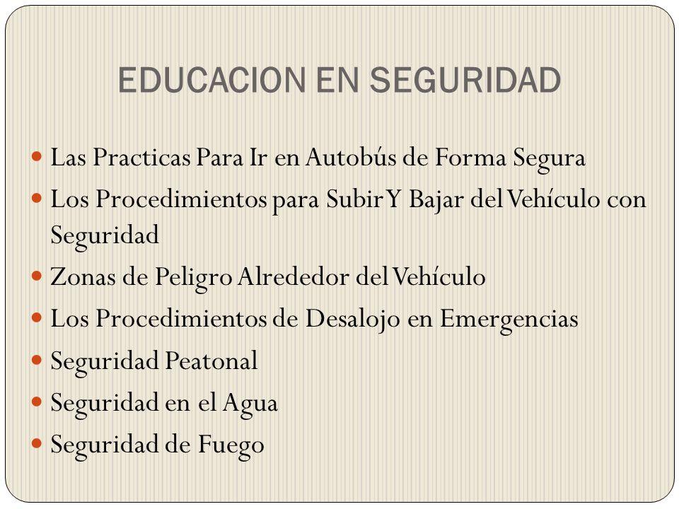 EDUCACION EN SEGURIDAD