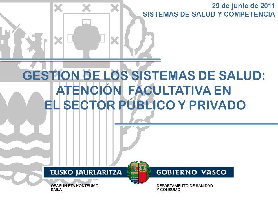 29 de junio de 2011 SISTEMAS DE SALUD Y COMPETENCIA