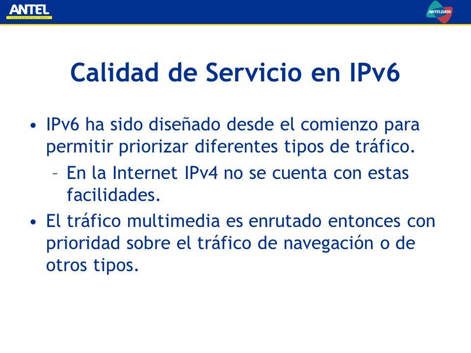 Calidad de Servicio en IPv6
