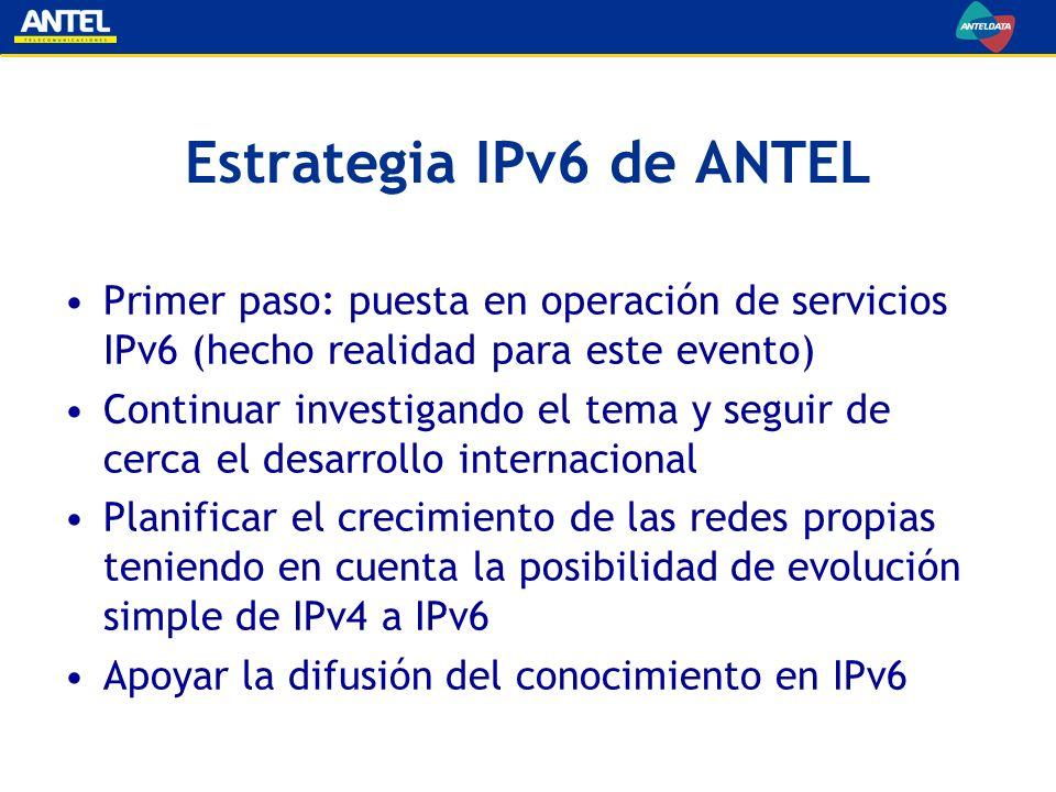 Estrategia IPv6 de ANTEL