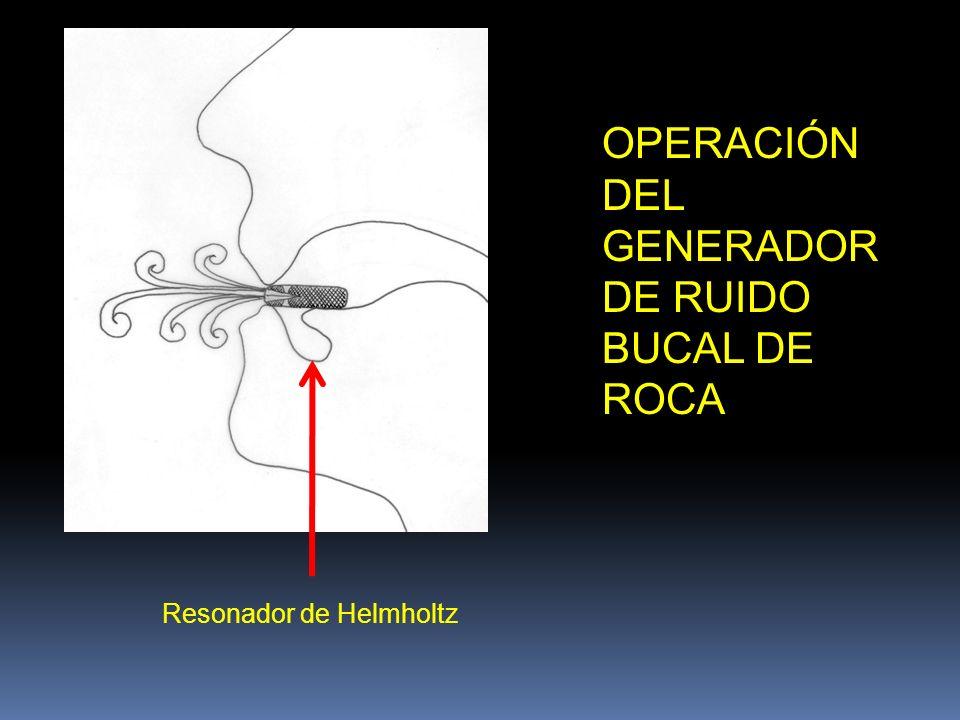 OPERACIÓN DEL GENERADOR DE RUIDO BUCAL DE ROCA