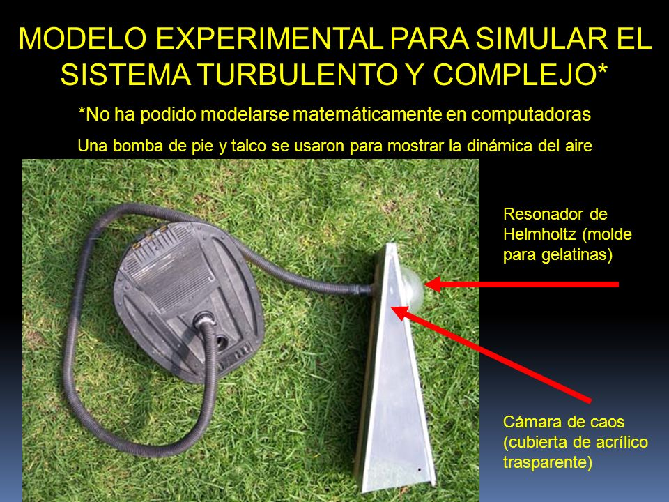 MODELO EXPERIMENTAL PARA SIMULAR EL SISTEMA TURBULENTO Y COMPLEJO*