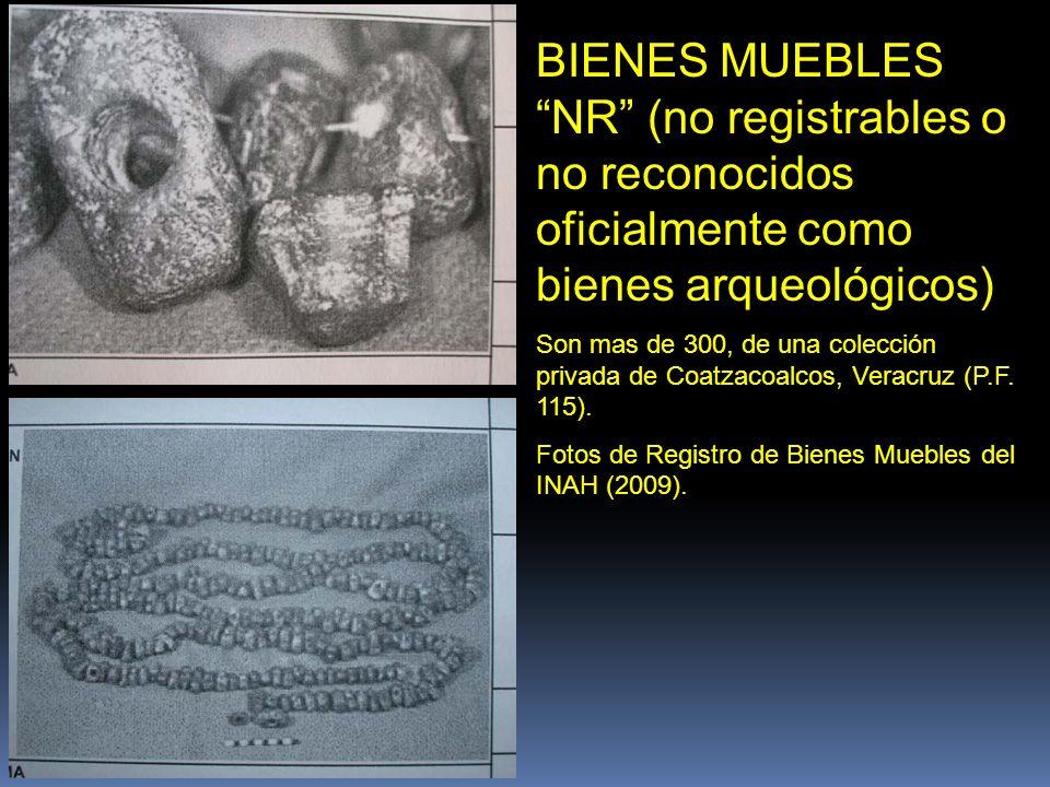 BIENES MUEBLES NR (no registrables o no reconocidos oficialmente como bienes arqueológicos)
