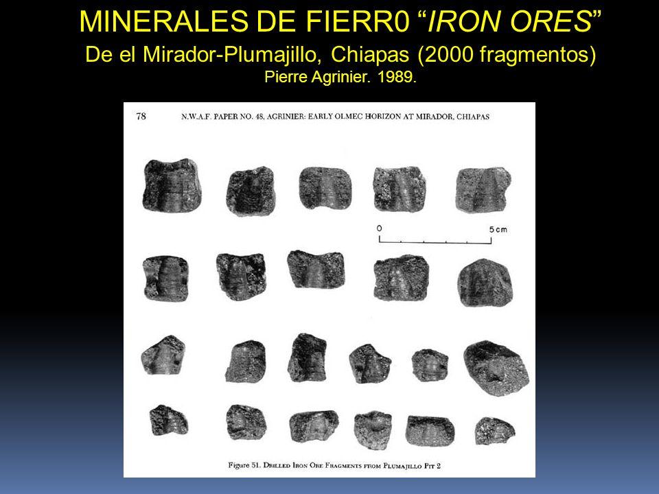 MINERALES DE FIERR0 IRON ORES