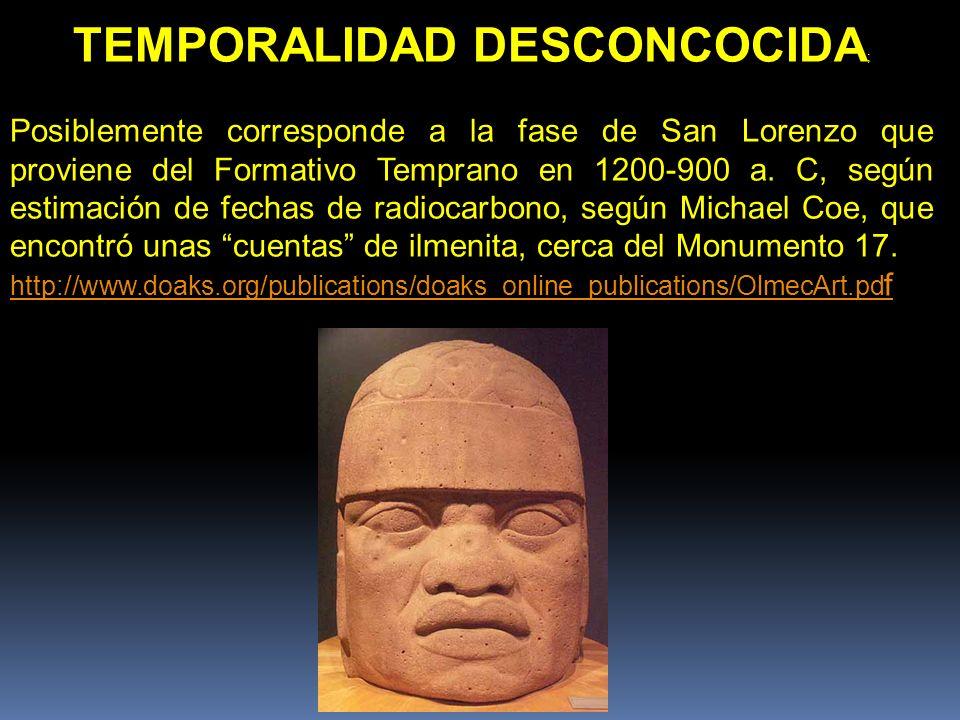 TEMPORALIDAD DESCONCOCIDA;