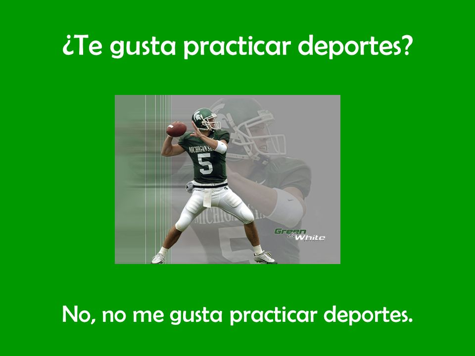 ¿Te gusta practicar deportes