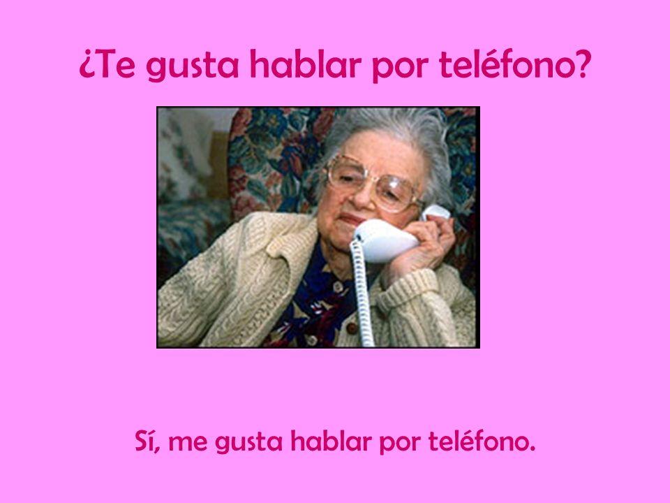 ¿Te gusta hablar por teléfono