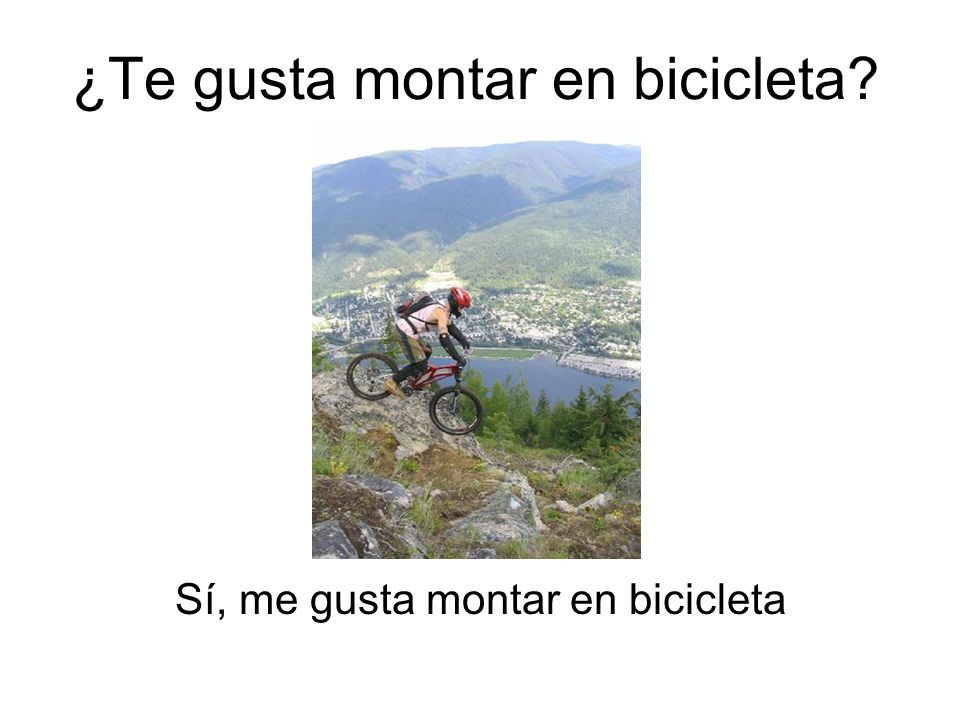 ¿Te gusta montar en bicicleta