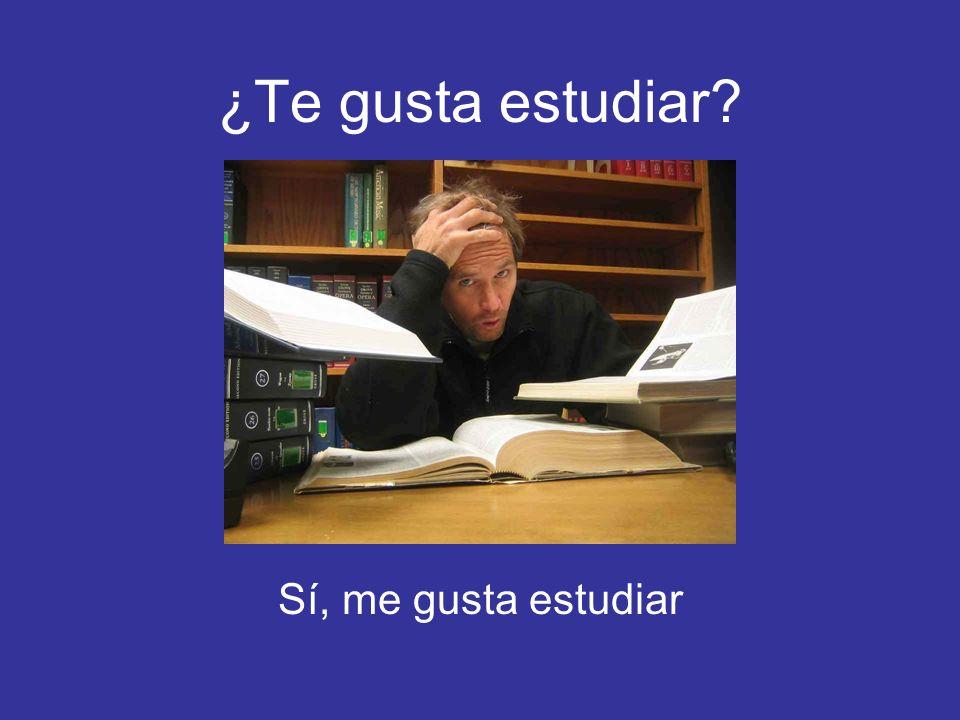 ¿Te gusta estudiar Sí, me gusta estudiar