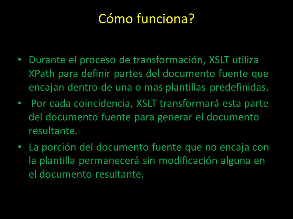 XSLT. - ppt descargar