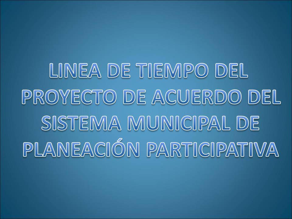 PROYECTO DE ACUERDO DEL PLANEACIÓN PARTICIPATIVA