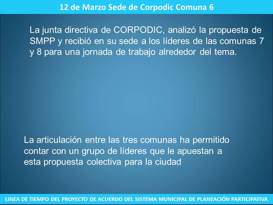 12 de Marzo Sede de Corpodic Comuna 6