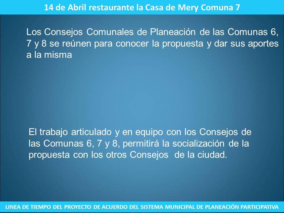 14 de Abril restaurante la Casa de Mery Comuna 7