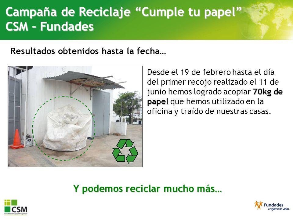 Y podemos reciclar mucho más…