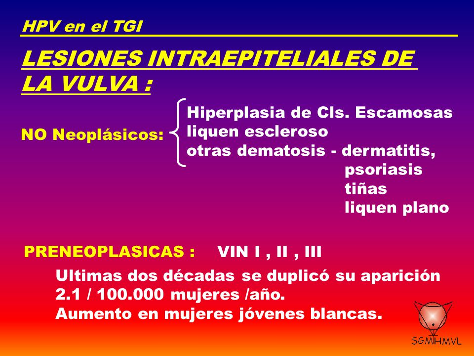 LESIONES INTRAEPITELIALES DE LA VULVA :