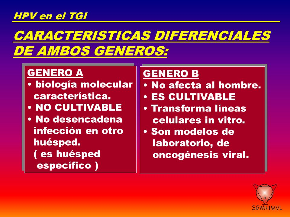 CARACTERISTICAS DIFERENCIALES DE AMBOS GENEROS: