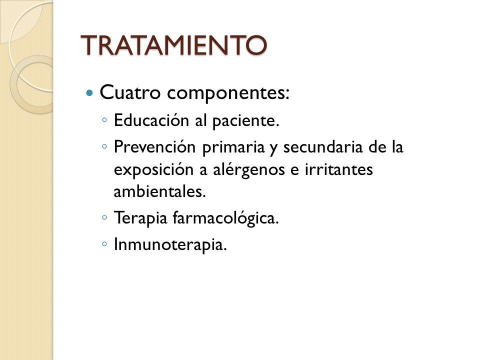 TRATAMIENTO Cuatro componentes: Educación al paciente.