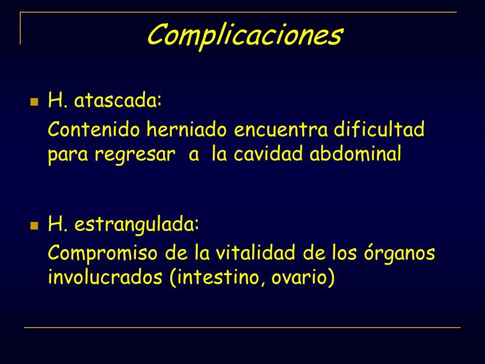 Complicaciones H. atascada: