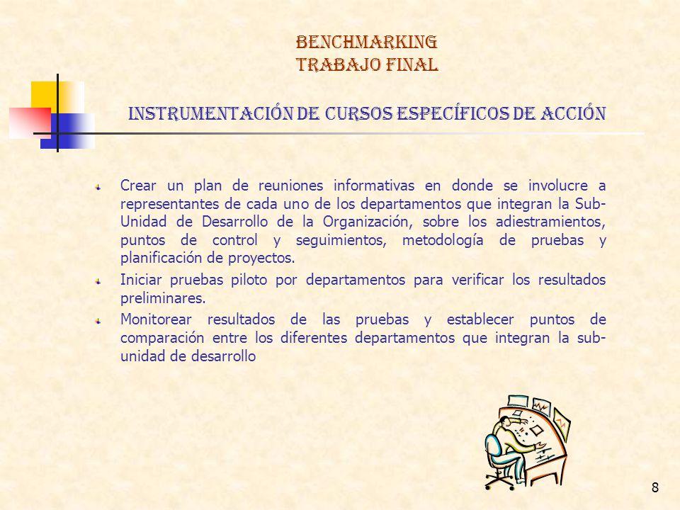 BENCHMARKING TRABAJO FINAL instrumentación de Cursos Específicos de acción