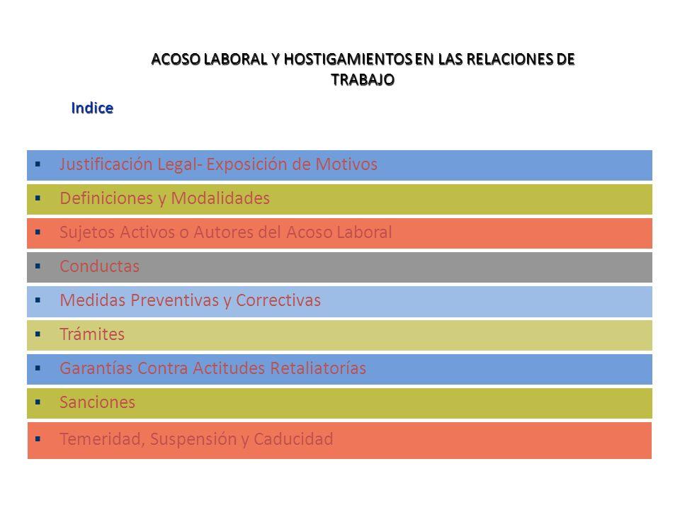 ACOSO LABORAL Y HOSTIGAMIENTOS EN LAS RELACIONES DE TRABAJO