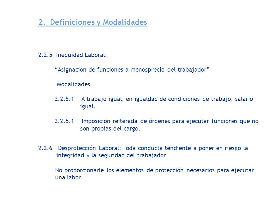 2. Definiciones y Modalidades